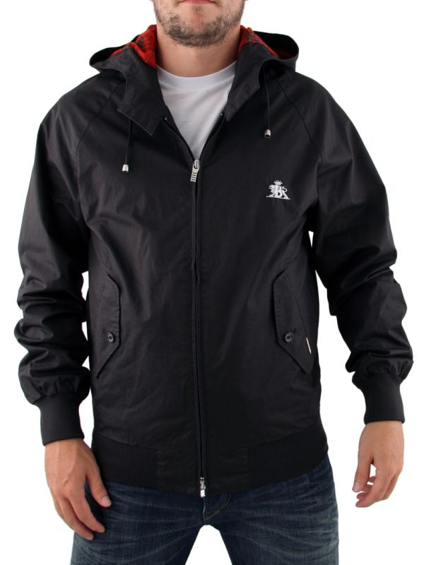 Black Baracuta Miami Hooded Jacket