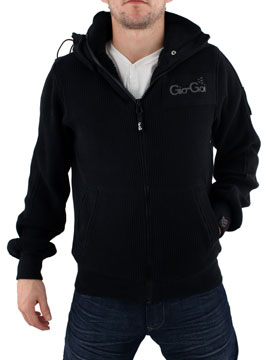 buy Gio Goi Black Johan Hooded Jacket now