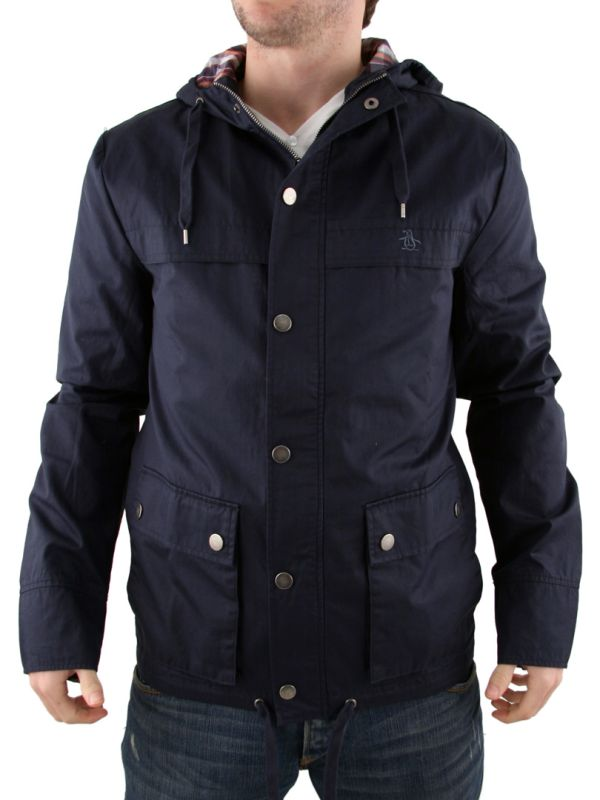 Black Original Penguin Hooded Jacket
