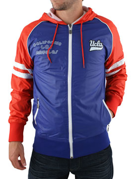 Ucla Blue Windcheater Zip Through Jacket