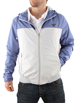 buy Blue and Grey Voi Jeans Zip Jacket now